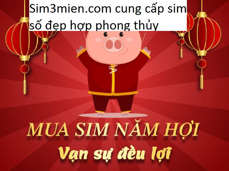 Sim3mien.com cung cấp sim số đẹp