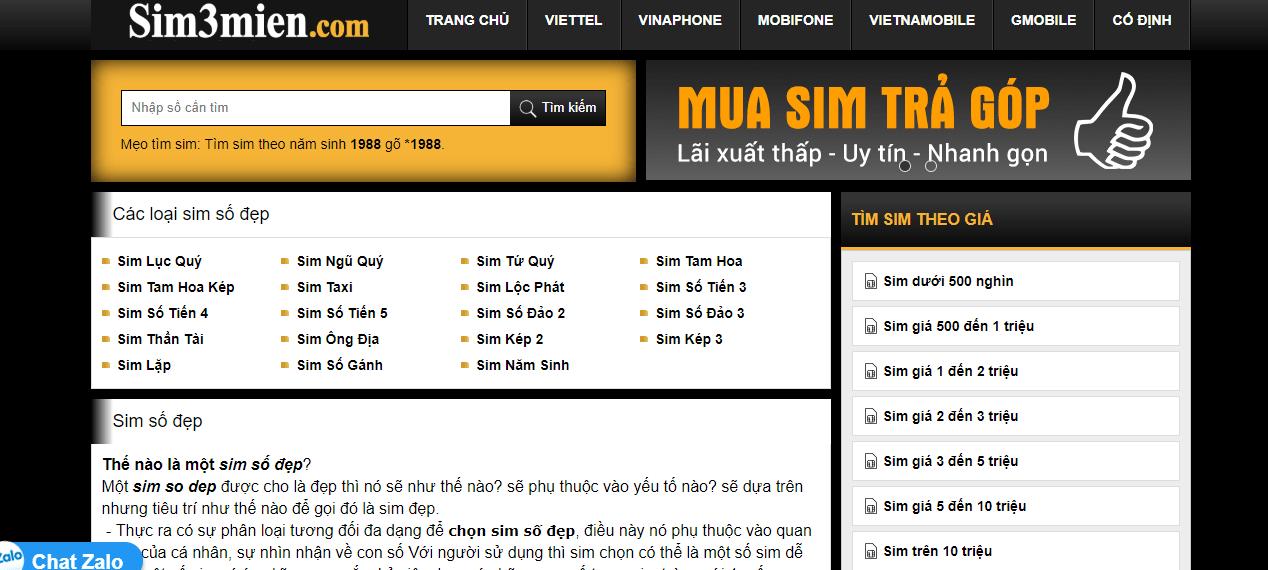 Sim3mien- địa chỉ mua sim số chất lượng, uy tín nhất
