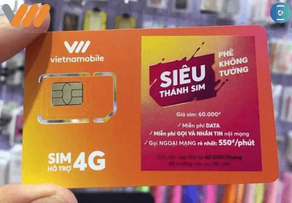 Thông tin chi tiết về gói siêu thành sim của Vietnamobile