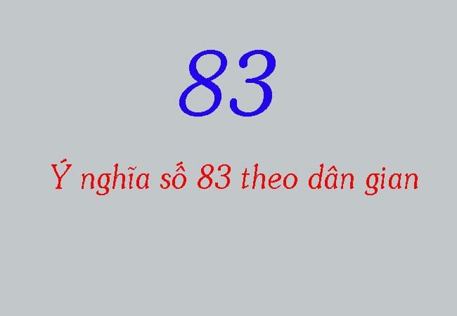 Ý nghĩa số 83